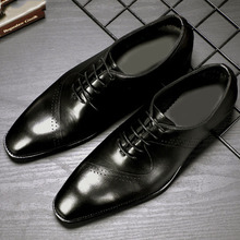2019 Handmade Brand Designer wedding shoes men Fashion formal shoes men genuine leather Style Mens Oxford Dress Shoes christia bella fashion handmade formal mens dress shoes genuine leather spikes studded zebra men s evening wedding party shoes