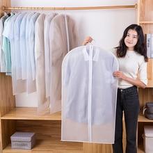 Clothes Dust Cover Household Overcoat Transparent Waterproof Suit Cover Organizing Storage Garment Suit Bag Clothes Dustproof Ba