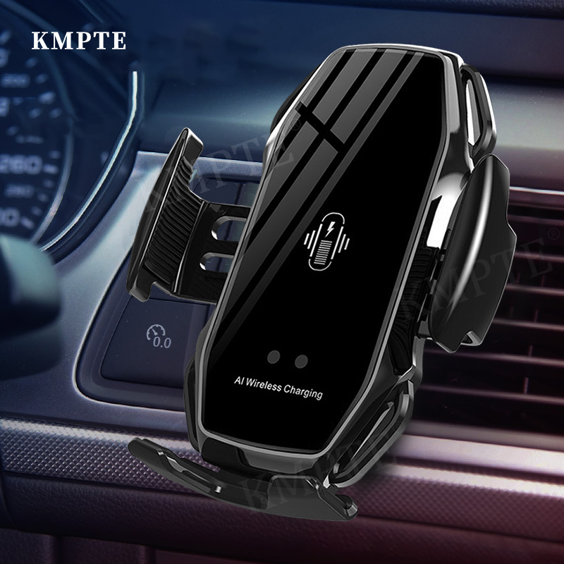 KMPTE Car Wireless Charger 10W Induction Fast Wireless Charging For iPhone 12 Max Pro 11 Pro XR Samsung S20 S10 Infrared Sensing