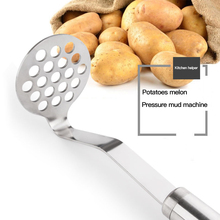 High Quality Practical Stainless Steel Potato Masher Ricer Puree Garlic Presser Vegetable Fruit Press Maker Kitchen Gadget Set