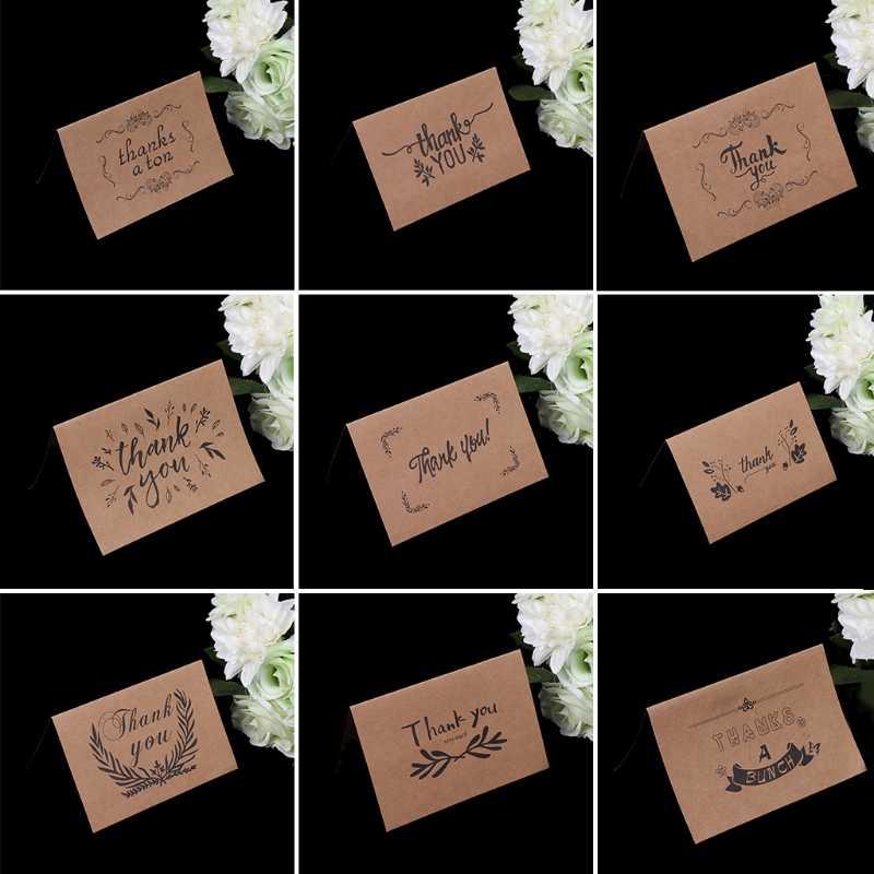 Leeg Dank U Papier Kaarten Note Enveloppen Groet Wedding Party Receptie Ambachten RXJB