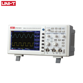 Digital Oscilloscope UNI-T UTD2102CL Portable 100MHz 2 Channels 500Ms/S USB Oscilloscopes Ociloscopio Automotivo Portatil hantek 6022be laptop pc usb digital storage virtual oscilloscope 2 channels 20mhz handheld portable osciloscopio