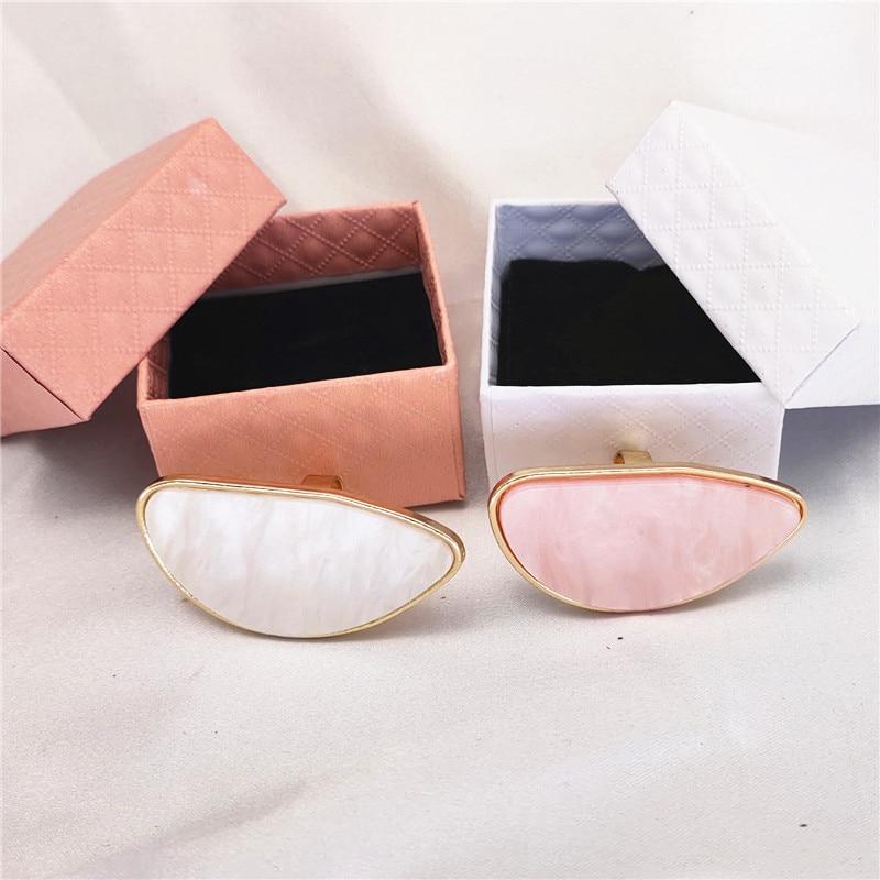 Fashion Box ring Classic Hyperbole big rings geometry adjustable ring Bohemia acrylic rings for women Nightclub ring jewelry