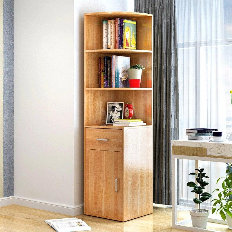 Corner Cabinet Corner Storage Shelf Modern Minimalist Assembly Corner Storage Cabinets Imitation Wood Turn Living Room Corner Ca