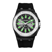 ADDIES Waterproof Silicone Mens Watch Luxury Brand Luminous Alloy Dial High-grade Quart Wristwatches Relogio Masculino