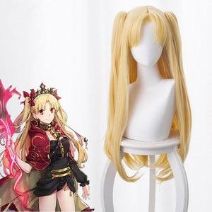 FGO Fate Ereshkigal Rinaka Saka Gin Rin Light Gold Cos Wig Anime Cosplay Game Fluffy Curls Long Yellow Female Hair Kawaii Wig(China)