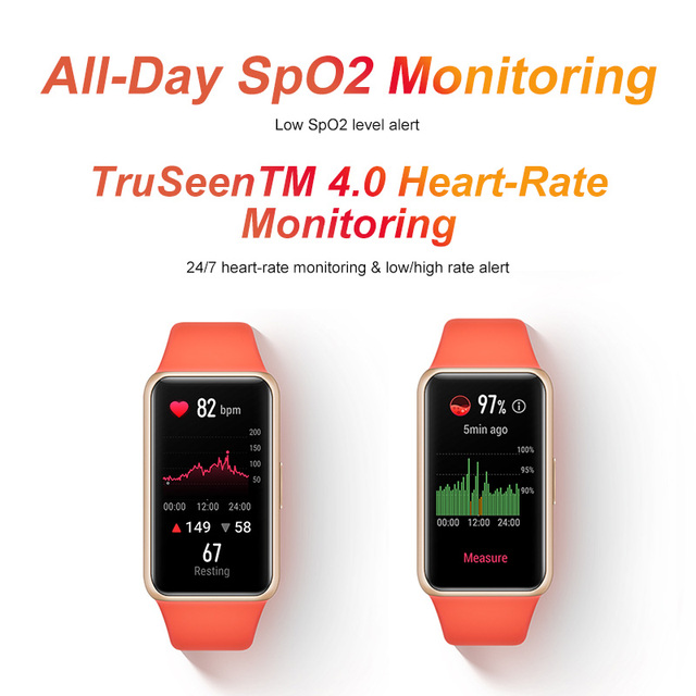 In stock  Huawei Band 6 Smartband Blood Oxygen 1.47'' inch Screen Heart Rate Tracker Sleep monitoring band 6 CODE:EOSSAFF7 50-7$ 4