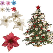 1PC Christmas Flowers Tree Decorations Artificial for Home Xmas New Year  Ornaments