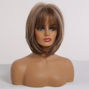 Парик Из прямых волос Луи Ферре с челкой, милые вечерние парики Лолиты для косплея для женщин, смешанные коричневые, пепельно-серые синтетич...