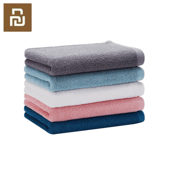 Youpin Towel 100% Cotton Strong Water Absorption Bath Soft and Comfortable Beach Face Hand Towels 32 X 70cm