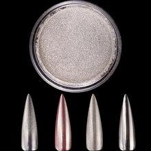1 коробка мл розовое золото серебро зеркальная пудра для ногтей