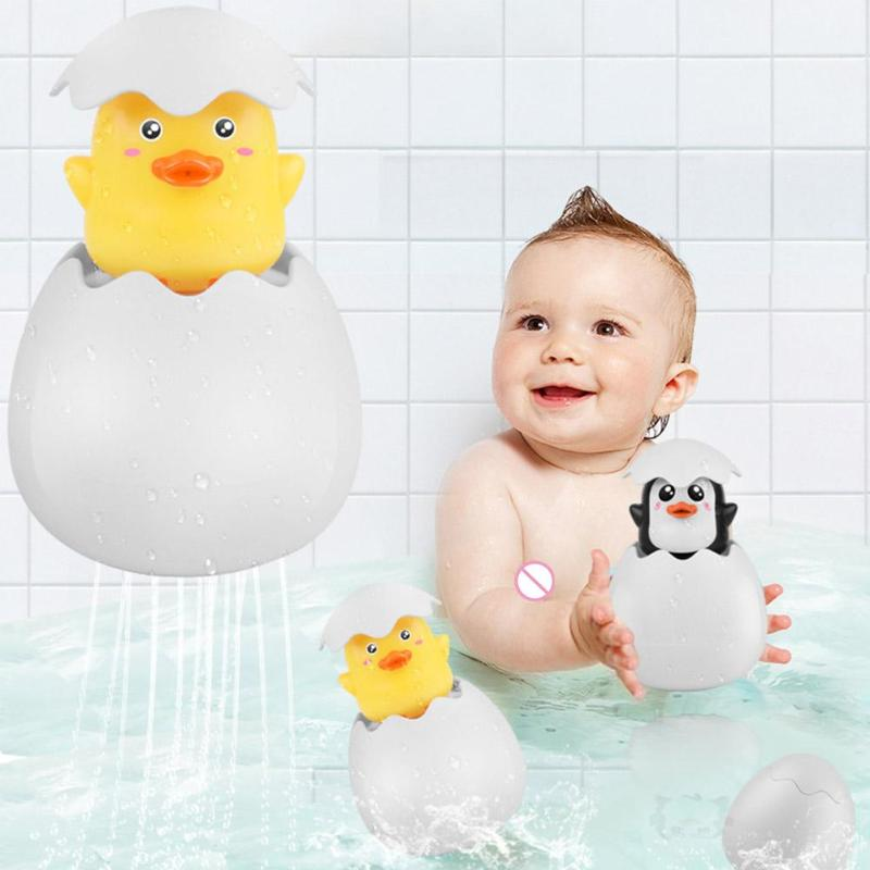 Funny Smooth Learning Toys Excellent ABS Hand-eye Coordination Water Spray Egg Kids Bath Toys Funny Fun Safe And Lovely