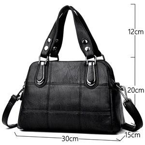 Image 2 - Bolsa de couro feminina bolsas de luxo bolsas femininas designer tote senhoras sacos de ombro marca mensageiro saco sac principal femme