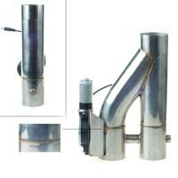 2.5 pouces 3 pouces électrique échappement découpe échappement silencieux échappement-tuyau découpe deux valve tuyau télécommande auto évent-tuyau YTR