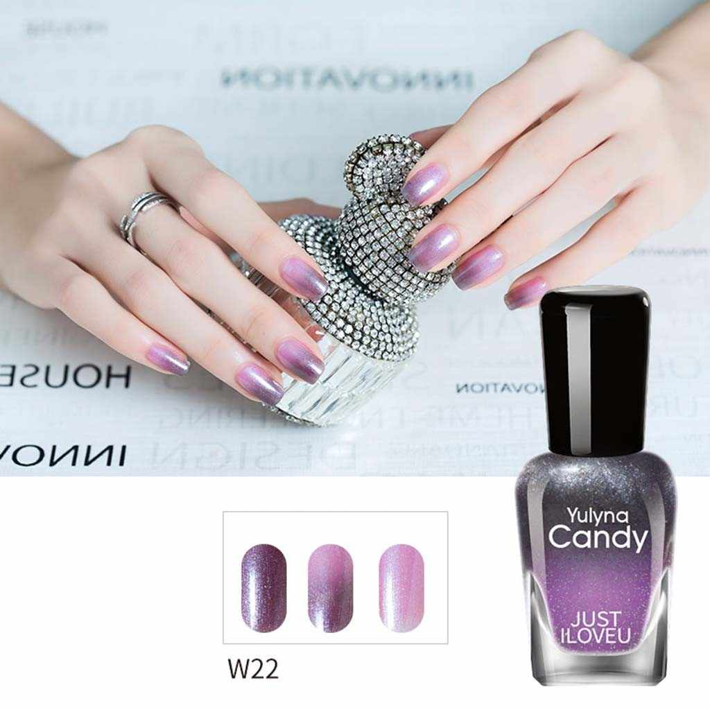 11 colors glitter thermal nail polish pure glitter Sequines Temperature color Changing Nail Polish Fast Dry Varnish Shinny z2