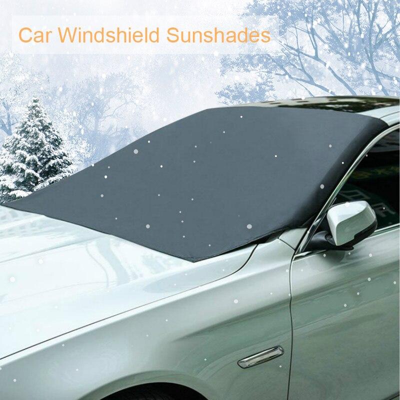 Магнитное лобовое стекло автомобиля, защита от снега, защита от снега, защита от солнца, защита от мороза, противотуманная защита, универсальная защита от солнца для автомобиля - Цвет: Front Windscreen