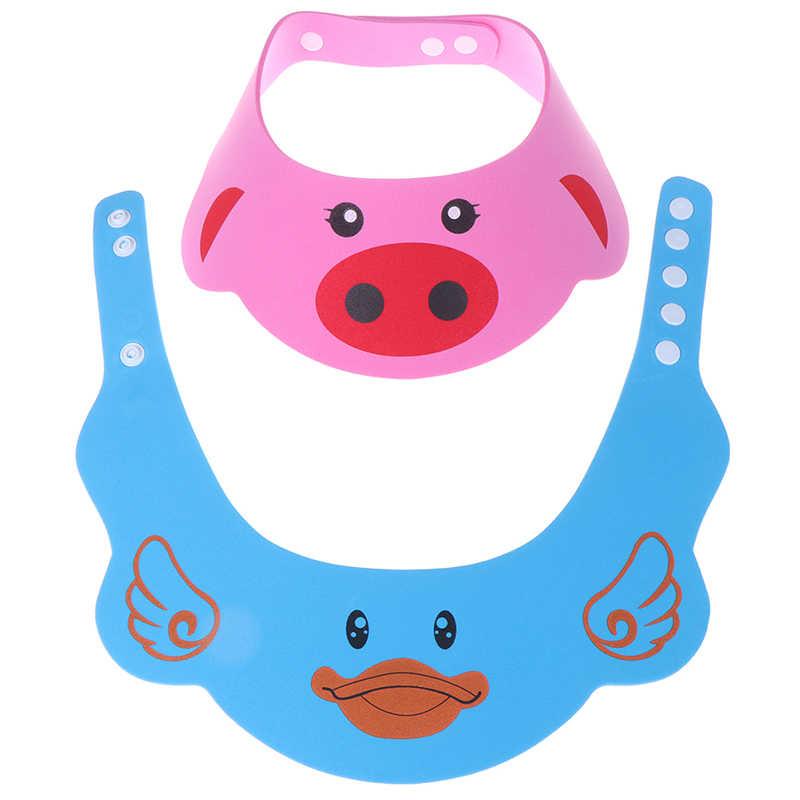 Bonito gorro infantil para bebé ajustable, champú para niños, gorro de baño para ducha, gorro para lavar el pelo, gorras para el cuidado del bebé, nueva llegada