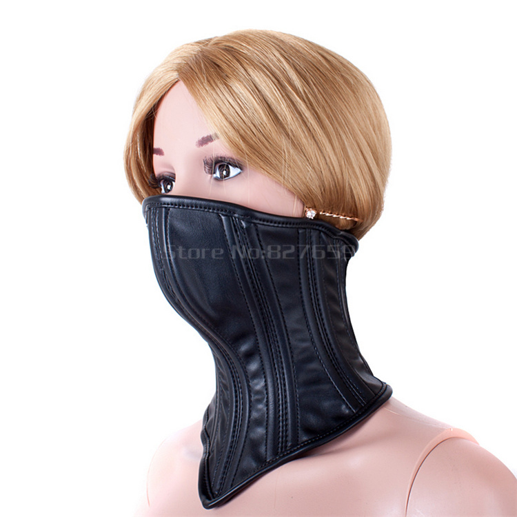 Female Slave Collar Bondage Restraints Harness Leather Mask Adult Sex Game BDSM Sex Toys For Couples Cosplay