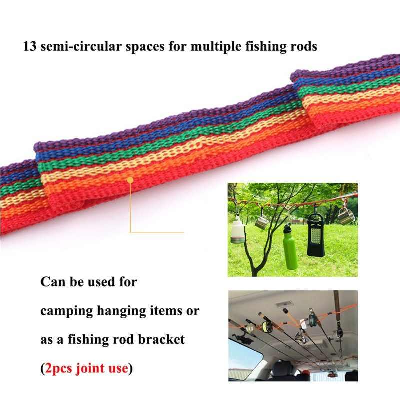 واحد-قطعة الصيد قضيب حامل تثبيت للسيارات مع حزام داعم مع قوس نظام الصيد سيارة الداخلية الاختطاف الصيد أدوات GMT601