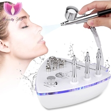 Máquina de esfoliação facial, máquina de beleza diamante dermabrasião com pistola de pulverização água spray de sucção à vácuo massagem