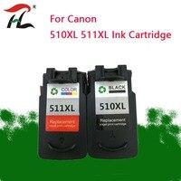 YLC 510XL CL 511XL PG510 Cartucho de Tinta para Canon PG MP240 MP250 MP260 MP280 MP480 MP490 IP2700 MP499 impressora PG 510 CL 511 pg510
