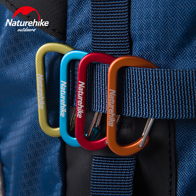 Naturehike Outdoor Multifunctional Convenient Hanging Buckle D Carabiner 4cm Tent Buckle NH15A004-H