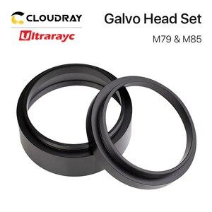 Ultrarayc galvo head conjunto f-theta, anel adaptador de lente para co2 laser e fibra galvo cabeça f-theta transformação da rosca da lente m85 m79