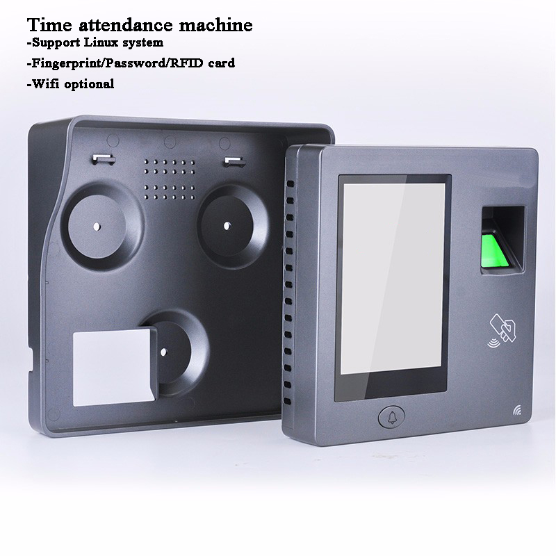 DC12V Employee Time Attendance Fingerprint Code ID IC Card USB WIFI Data Download TCP/IP Linux Door Opener Access Control System