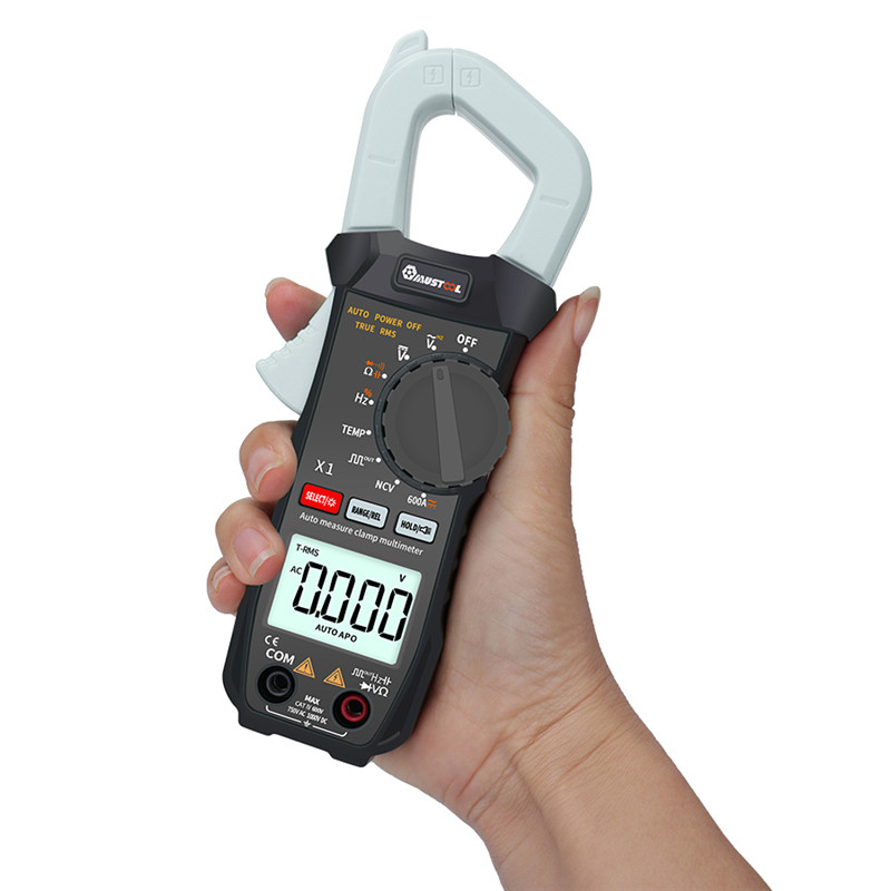 Tools : MUSTOOL X1 6000 Counts True RMS Clamp Meter Auto Digital Multimeter With Square Wave Output ohm V A Diode Freq Cont Voltage Test