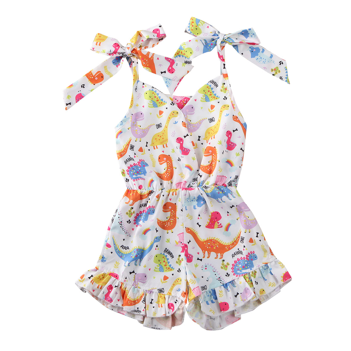 Newborn Kids Baby Girls Bandage Sling Romper Jumpsuit Outfits Clothes One-Piece