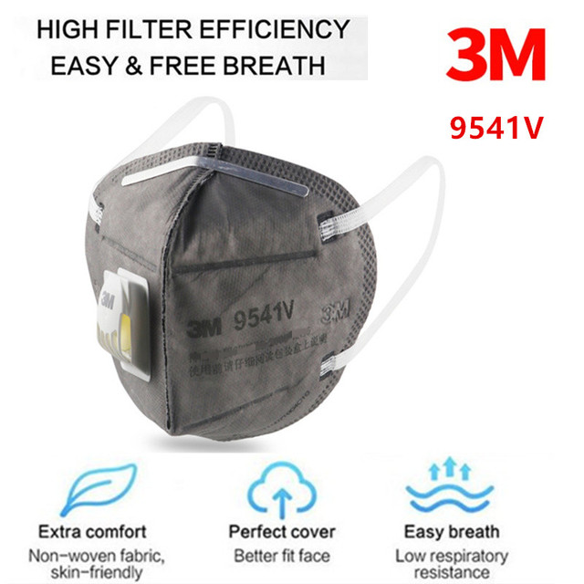 3M 9541V Grey Safety Protective Dust safe Masks Anti-PM 2.5 Sanitary Working Respirator With Filter Structure 1