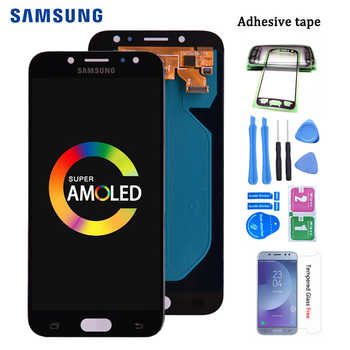 Original Amoled Für Samsung Galaxy J7 Pro 2017 J730 J730F LCD Display und Touch Screen Digitizer Montage J730F J730GM J730G