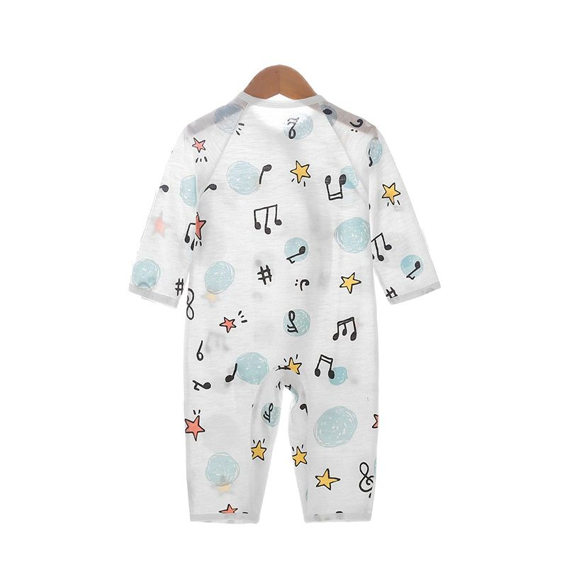 Summer baby baby romper suit cotton pajamas long-sleeved baby climb clothes household to take the clothes