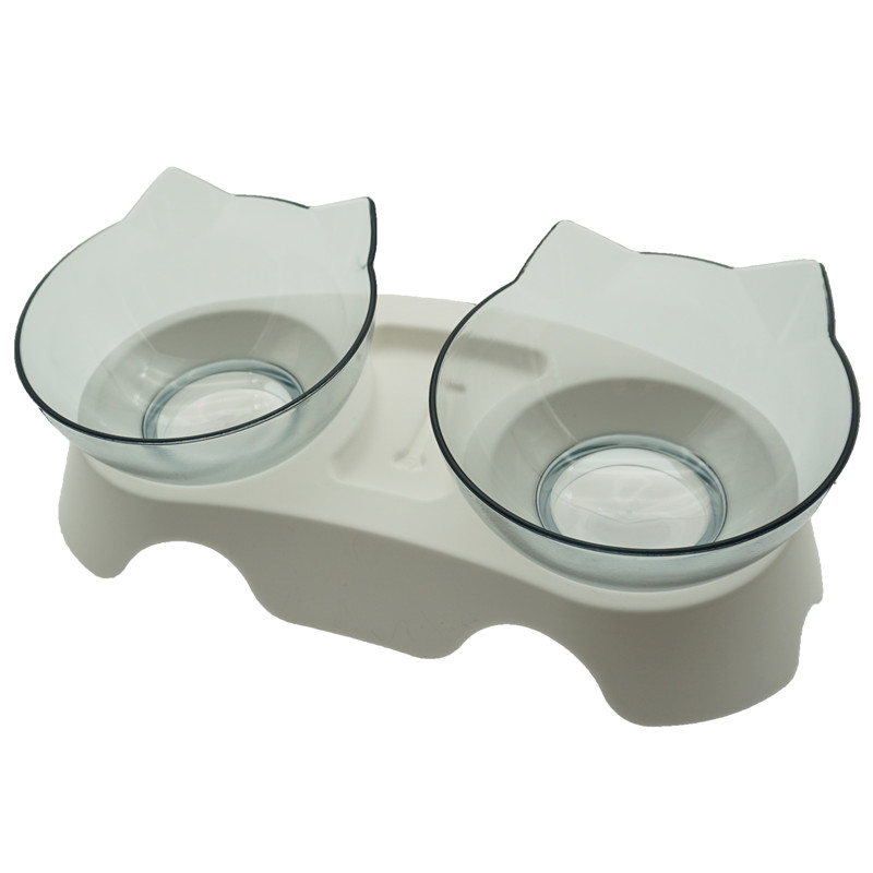 H Double-Non-Slip Double Cat Bowl Dog Bowl With Stand Pet Feeding Cat
