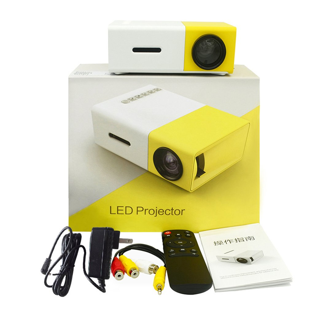 Cheap YG300 <font><b>LED</b></font> Mini Projector 320x240 Pixels Supports 1080P <font><b>YG</b></font>-<font><b>300</b></font> HDMI USB Audio Portable Projector Home Media Video player image