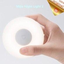 جديد شاومي Mijia Led ضوء الليل 2 التعريفي سطوع قابل للتعديل الأشعة تحت الحمراء الذكية استشعار الحركة مصباح صغير مع قاعدة مغناطيسية