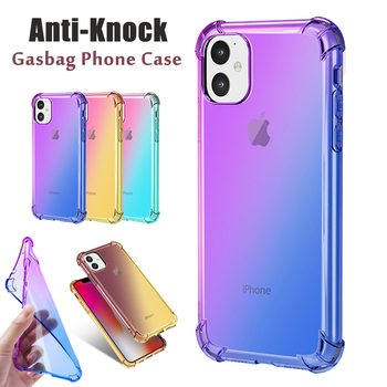 Transparent Case for iPhone 8 7 6 5 XR XS X 11 Case Shockproof Silicone Case on for iPhone 11 8 7 6s Plus 5s 11 Pro XS Max Case image