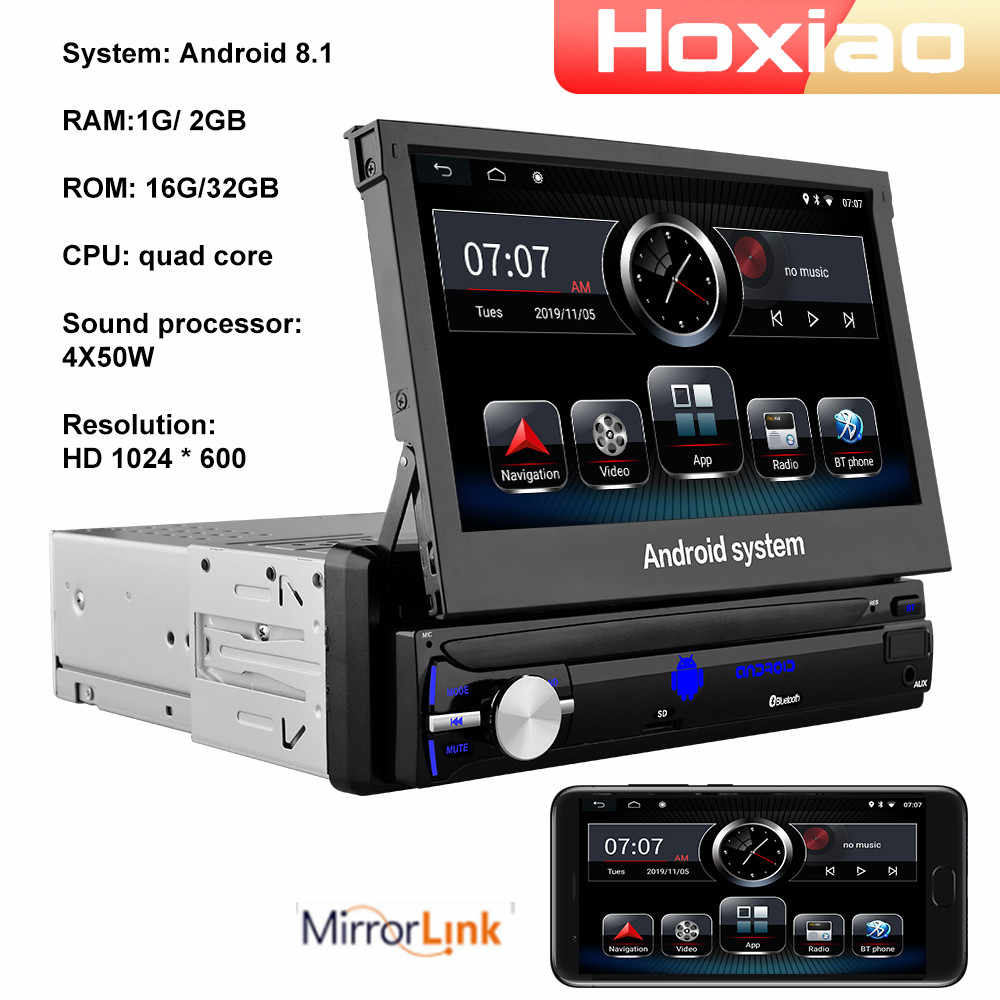 Mobil Radio Audio 1 Din Android 8.1 RAM 2G ROM 32G Gps Navigasi Autoradio Wifi FM DAB Bt 1DIN Mobil Multimedia Tertanam Pemain
