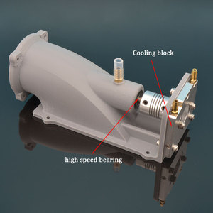 Image 3 - Impulsionador da bomba de barco a jato de água de 40mm, empurrador de água com sistema de reverso, hélice de 40mm, 5mm de eixo w/acoplamento para barcos de jato modelo rc