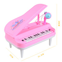 Electric Music Mini Small Piano with Microphone Musical Instrument Toy Electronic Keyboard Small Musical Instrument Children Mus