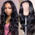 Парик с волнистыми волосами на сетке 4x4, парик Ali Annabelle, волнистые человеческие волосы, натуральные 150 180 плотные бразильские человеческие вол...