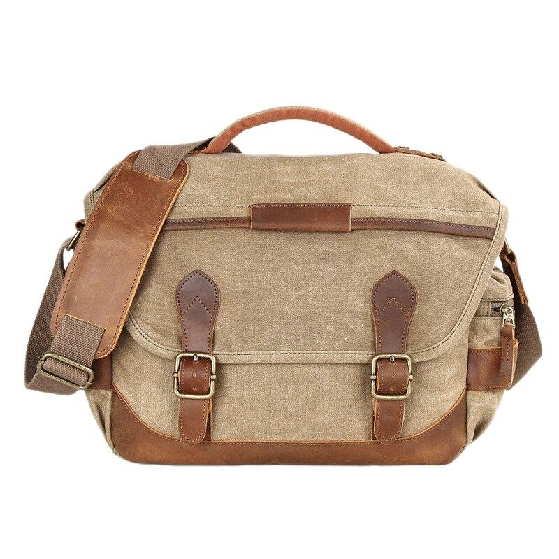 Vintage étanche Batik toile sac photo épaule décontracté Messenger sac de photographie pour Canon Nikon Sony Dslr appareil photo