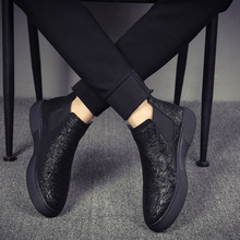 mens fashion breathable chelsea boots soft leather shoes flats platform ankle botines hombre brand designer bota masculina male