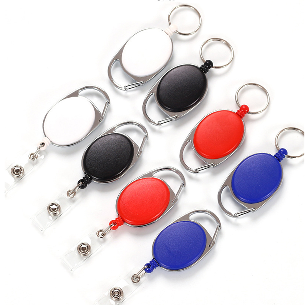 Oval Badge Reel Holder Back Clip Buckle Retractable Key Chain Cable Name Id Card Buckle