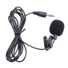 3.5mm Clip On Mini Microphone Lapel Tie Hands Free Lavalier Mic For Laptop PC BK 634A high quality special black hands free clip on 3 5mm mini studio speech microphone