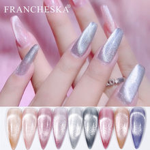 FRANCHESKA Gel Es Kristal Cat Eye Gel Nail Perak Kristal 9D Lampu Variasi Terapi Cat Eye Gel 8Ml gel Cat Kuku(China)