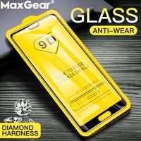 Protector de pantalla de vidrio templado curvo 9D para móvil, película protectora de pegamento completo, para Huawei P10 Plus, P20 Lite, Mate 9, 10, 20 Pro, P 9, 2 uds.