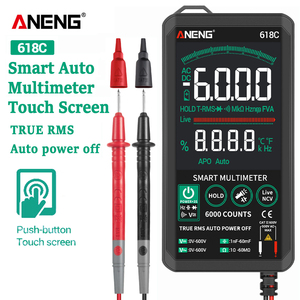 Цифровой мультиметр 618A618B618C, умный сенсорный аналоговый измеритель постоянного тока, истинное значение RMS, автоматический тест, профессиона...