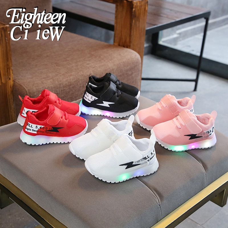 Children Shoes For Boys Luminous Sneakers Tenis Led Infantil Children Shoes With Light Sneakers Glowing Baby Toddler Boy