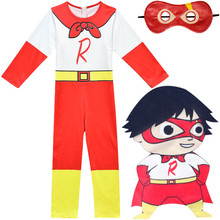 Childern Halloween Cosplay Kostüme Ryan Spielzeug Bewertung Superman Overall Maske Kinder Party Karneval Phantasie Rolle Spielen Tragen(China)